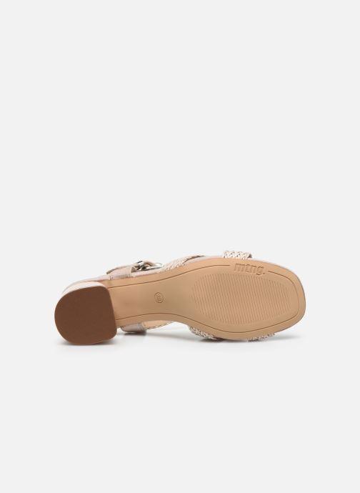 Sandales et nu-pieds MTNG 58826 Beige vue haut