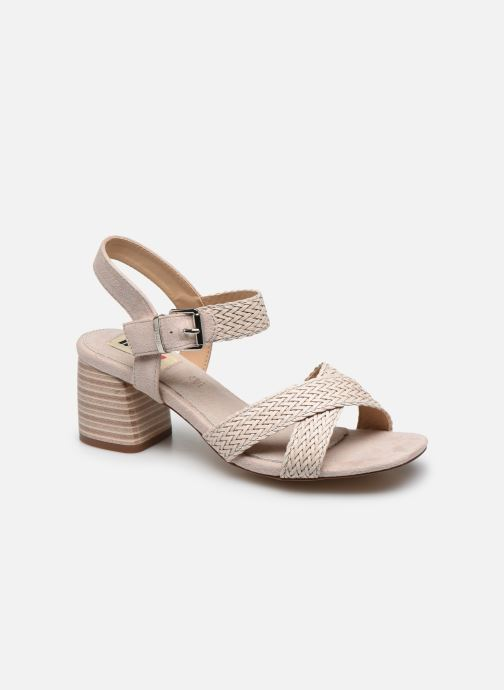 Sandales et nu-pieds MTNG 58826 Beige vue détail/paire