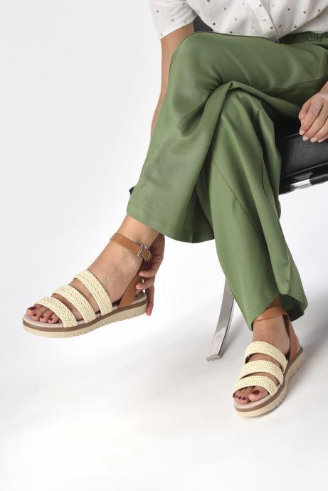 Sandales et nu-pieds MTNG 58953 Beige vue bas / vue portée sac