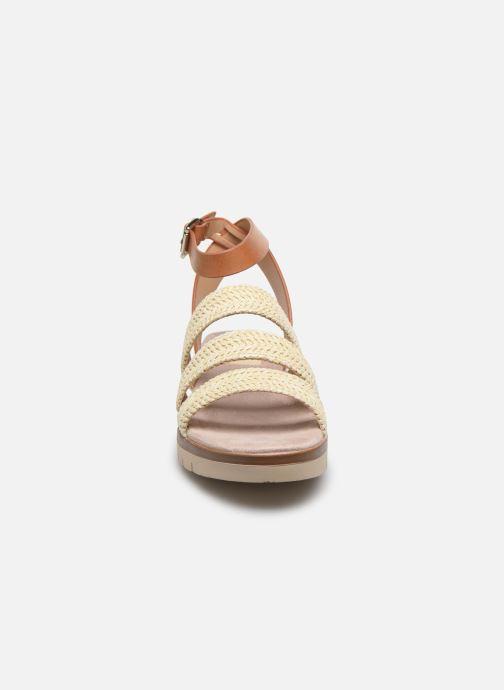 Sandales et nu-pieds MTNG 58953 Beige vue portées chaussures