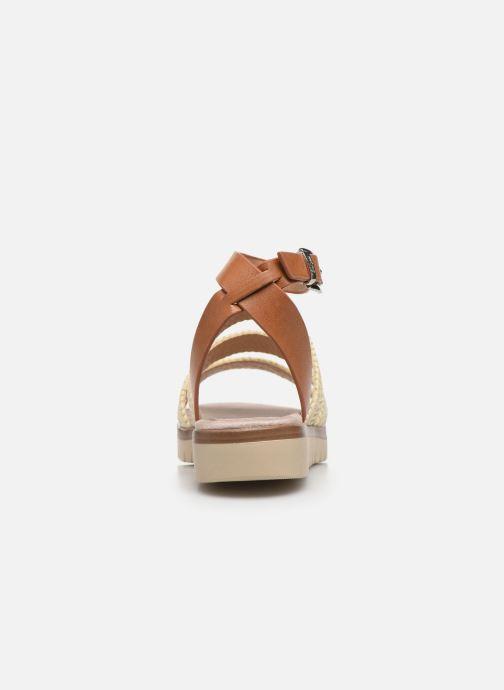 Sandales et nu-pieds MTNG 58953 Beige vue droite