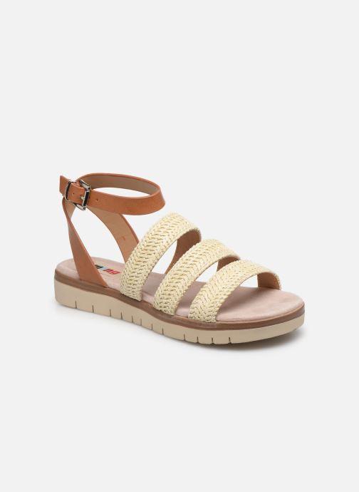 Sandales et nu-pieds MTNG 58953 Beige vue détail/paire