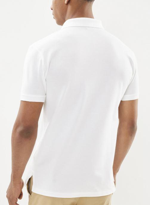 Vêtements Polo Ralph Lauren Polo MC Classic Pony Slim Stretch Mesh Blanc vue face