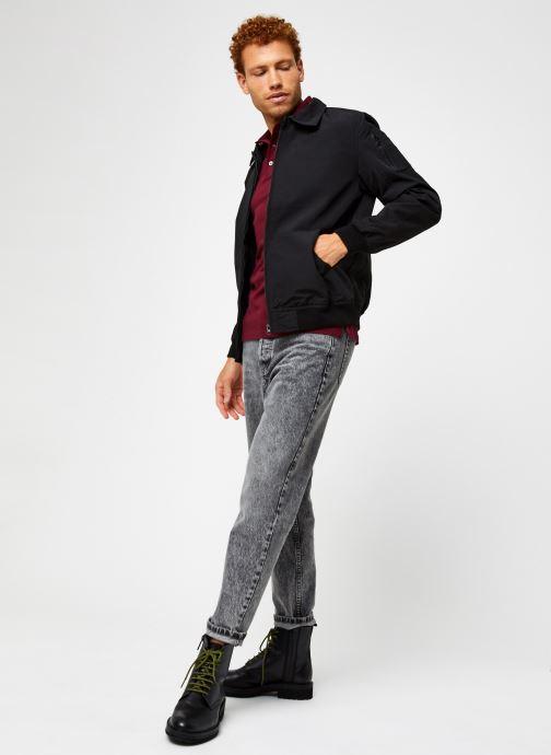 Vêtements Polo Ralph Lauren Polo MC Classic Pony Slim Stretch Mesh Bordeaux vue bas / vue portée sac