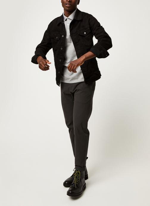 Vêtements Polo Ralph Lauren Polo MC Classic Pony Slim Stretch Mesh Gris vue bas / vue portée sac