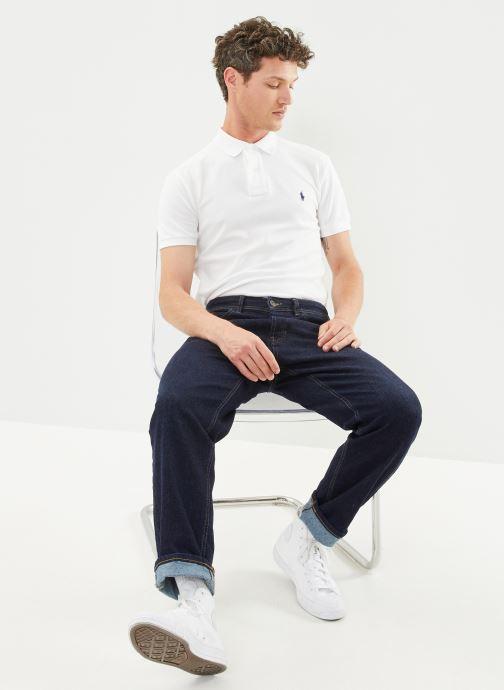 Polo Ralph Lauren Polo MC Classic Pony Custom Slim Stretch Mesh (Blanc) - Vêtements (430604)