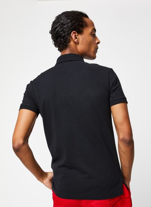 Polo Ralph Lauren Polo MC Classic Pony Custom Slim Stretch Mesh (Noir) - Vêtements chez Sarenza (430611) kte47