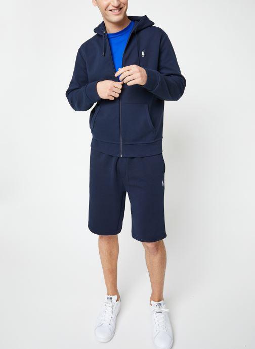 Vêtements Polo Ralph Lauren Sweatshirt Zippé ML Classic Pony Bleu vue bas / vue portée sac