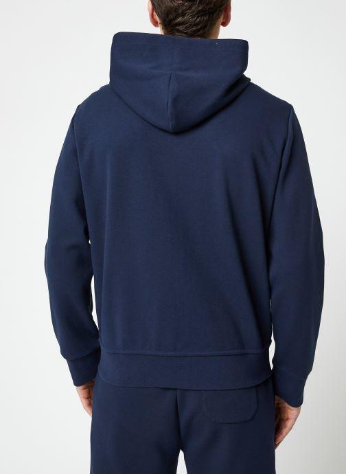 Vêtements Polo Ralph Lauren Sweatshirt Zippé ML Classic Pony Bleu vue portées chaussures