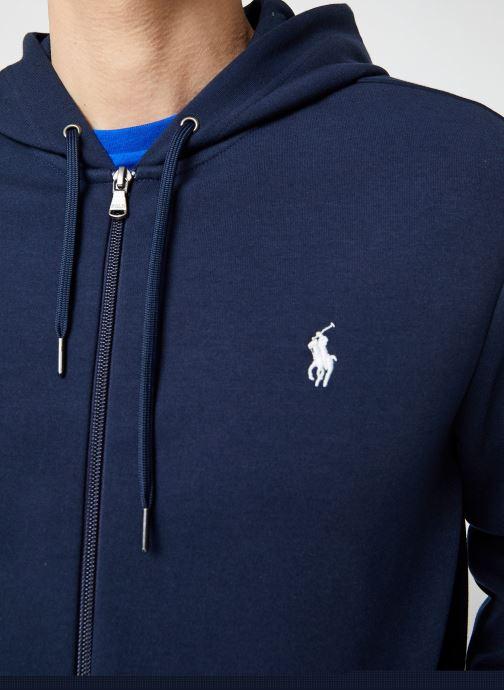 Vêtements Polo Ralph Lauren Sweatshirt Zippé ML Classic Pony Bleu vue face