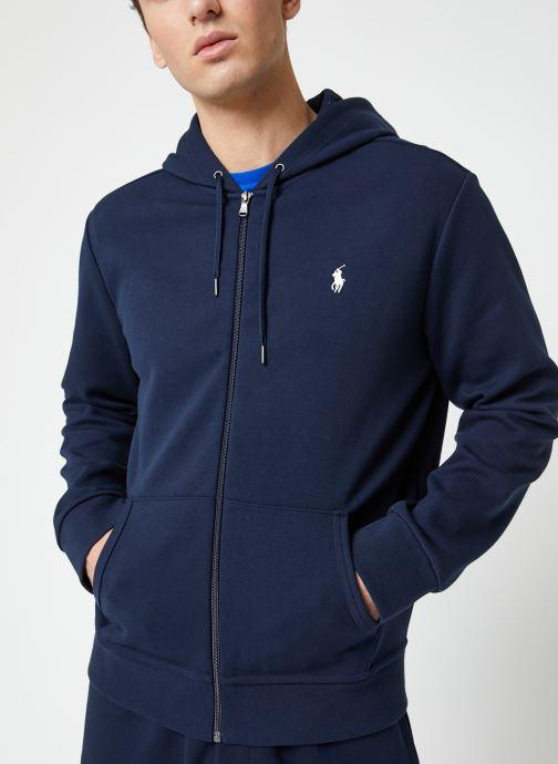 Vêtements Polo Ralph Lauren Sweatshirt Zippé ML Classic Pony Bleu vue droite