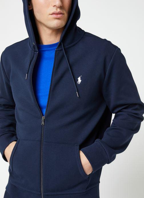 Vêtements Polo Ralph Lauren Sweatshirt Zippé ML Classic Pony Bleu vue détail/paire
