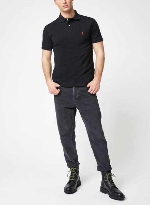 Polo Ralph Lauren Polo MC Classic Pony Custom Slim Basic Mesh (Noir) - Vêtements chez Sarenza (430609) mT2U1