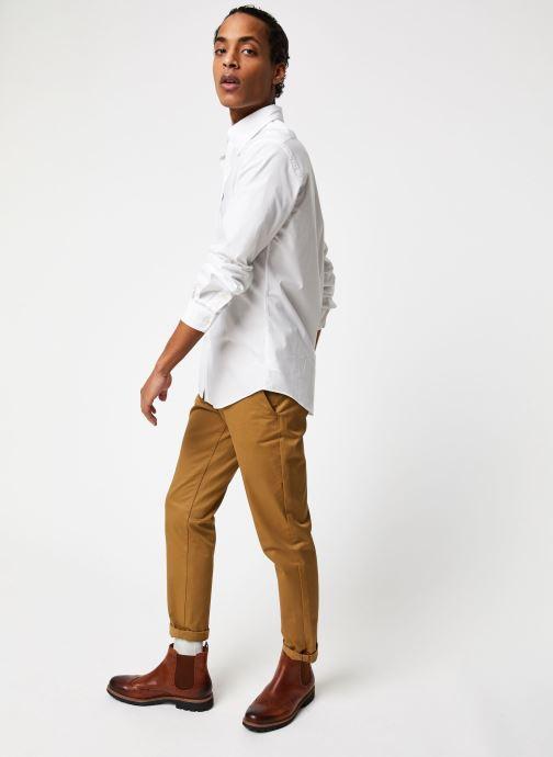 Vêtements Polo Ralph Lauren Chemise ML Classic Stretch Poppeline Pony Blanc vue bas / vue portée sac