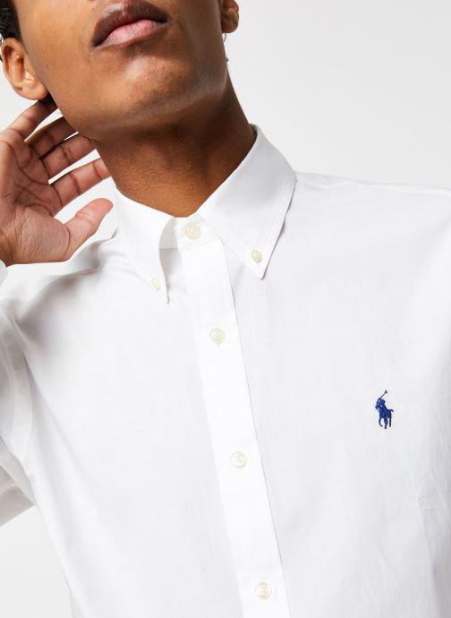 Vêtements Polo Ralph Lauren Chemise ML Classic Stretch Poppeline Pony Blanc vue face