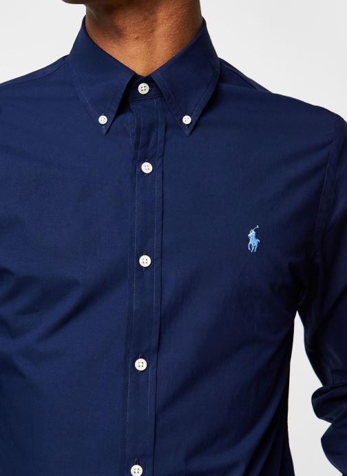 Vêtements Polo Ralph Lauren Chemise ML Classic Stretch Poppeline Pony Bleu vue face