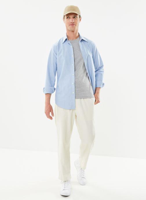 Vêtements Polo Ralph Lauren Chemise ML Custom Oxford Pony Bleu vue bas / vue portée sac