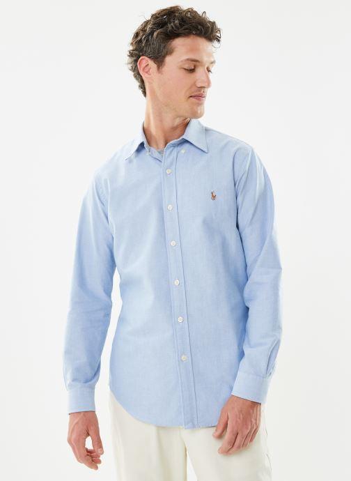 Vêtements Polo Ralph Lauren Chemise ML Custom Oxford Pony Bleu vue droite