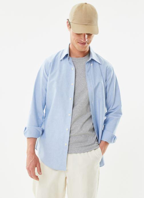 Vêtements Polo Ralph Lauren Chemise ML Custom Oxford Pony Bleu vue détail/paire