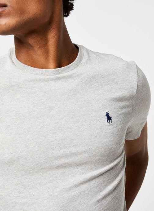 Vêtements Polo Ralph Lauren T-Shirt MC Classic Pony Custom Slim Jersy Gris vue face