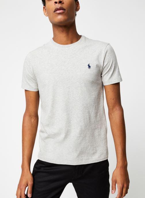 Vêtements Polo Ralph Lauren T-Shirt MC Classic Pony Custom Slim Jersy Gris vue détail/paire
