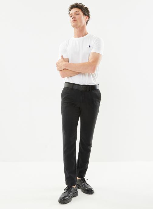 Vêtements Polo Ralph Lauren T-Shirt MC Classic Pony Custom Slim Jersy Blanc vue bas / vue portée sac