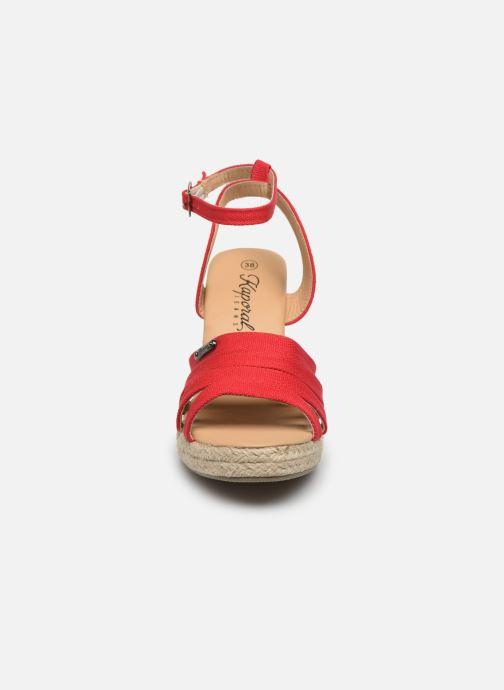 Espadrilles Kaporal Monty Rouge vue portées chaussures