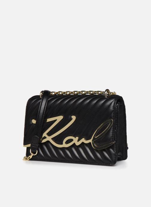 Handtaschen Karl Lagerfeld K/Signature Stitch Md Shoulderbag schwarz schuhe getragen