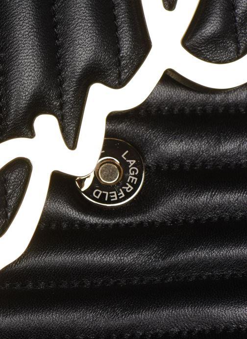 Handtaschen Karl Lagerfeld K/Signature Stitch Md Shoulderbag schwarz ansicht von links