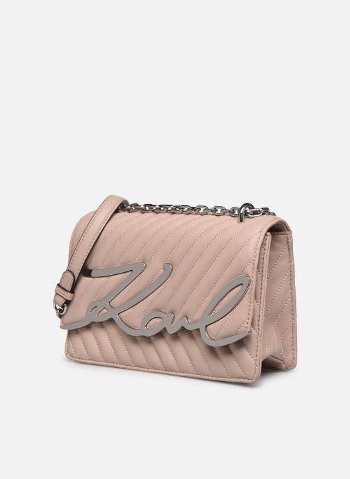 Handtaschen Karl Lagerfeld K/Signature Stitch Md Shoulderbag rosa schuhe getragen