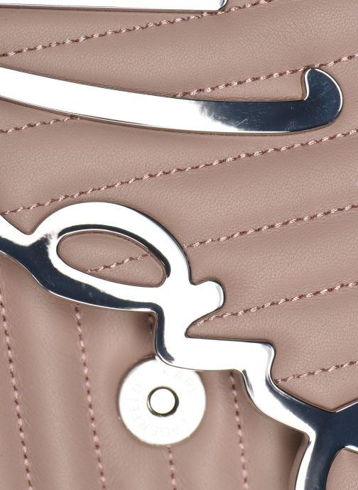 Handtaschen Karl Lagerfeld K/Signature Stitch Md Shoulderbag rosa ansicht von hinten