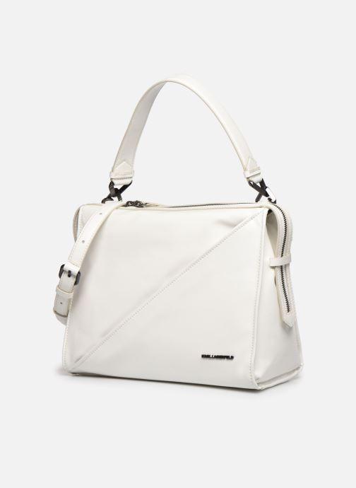Handtaschen Karl Lagerfeld K/Slash Top Handle weiß schuhe getragen