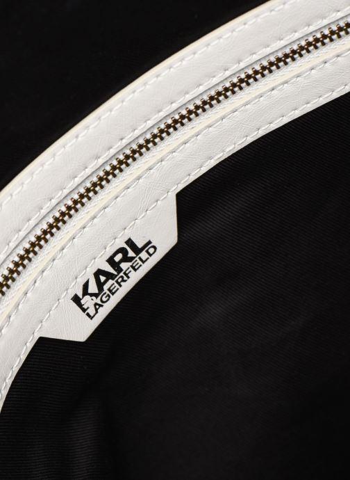 Handtaschen Karl Lagerfeld K/Slash Top Handle weiß ansicht von hinten