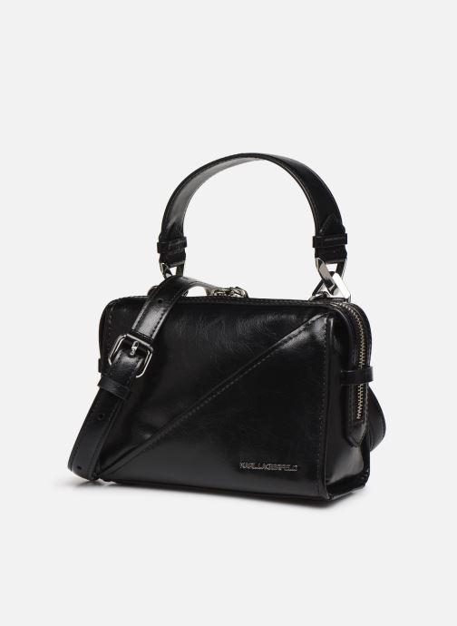 Handtaschen Karl Lagerfeld K/Slash Small Top Handle schwarz schuhe getragen