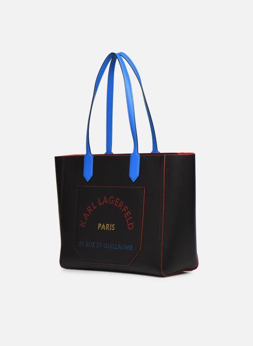 Handtaschen Karl Lagerfeld K/Journey Tote Bauhaus schwarz schuhe getragen