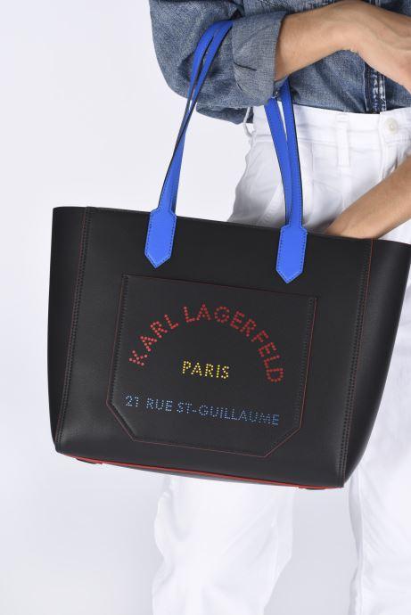 Handtaschen Karl Lagerfeld K/Journey Tote Bauhaus schwarz ansicht von unten / tasche getragen