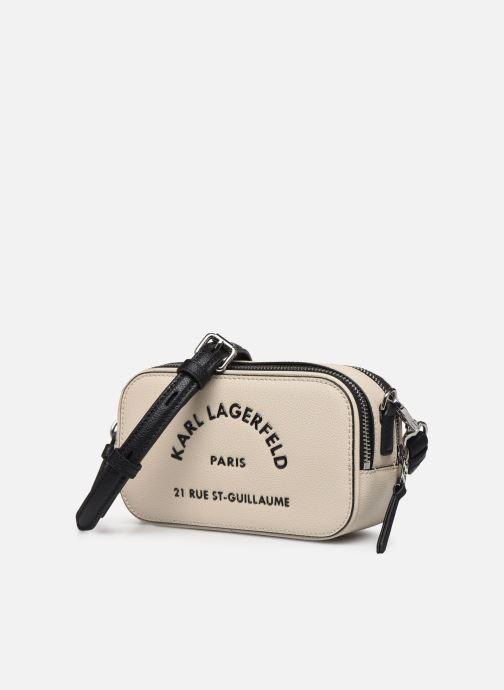 Portemonnaies & Clutches Karl Lagerfeld Rue Saint Guillaume Crossbody beige schuhe getragen