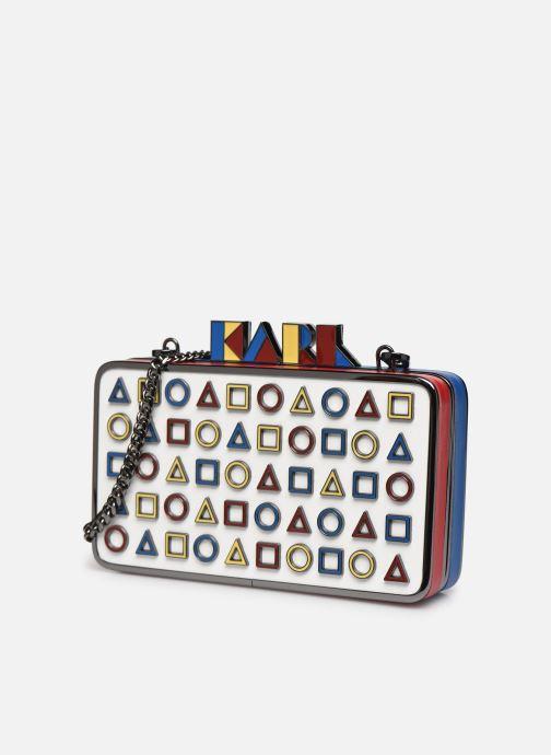 Handtaschen Karl Lagerfeld K/Bauhaus Minaudiere mehrfarbig schuhe getragen