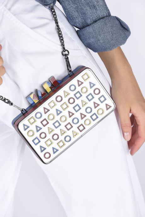 Handtaschen Karl Lagerfeld K/Bauhaus Minaudiere mehrfarbig ansicht von unten / tasche getragen