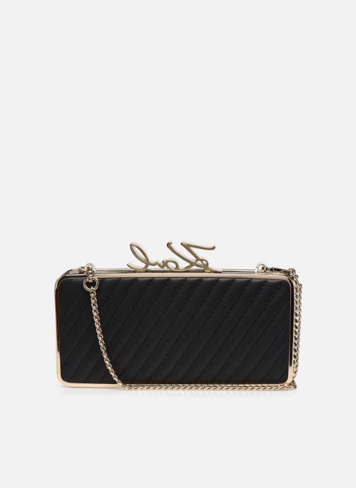 Handtaschen Karl Lagerfeld K/Signature Lock Minaudiere schwarz ansicht von vorne
