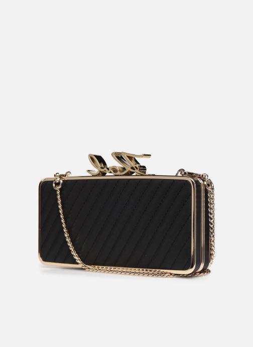 Handtaschen Karl Lagerfeld K/Signature Lock Minaudiere schwarz ansicht von rechts