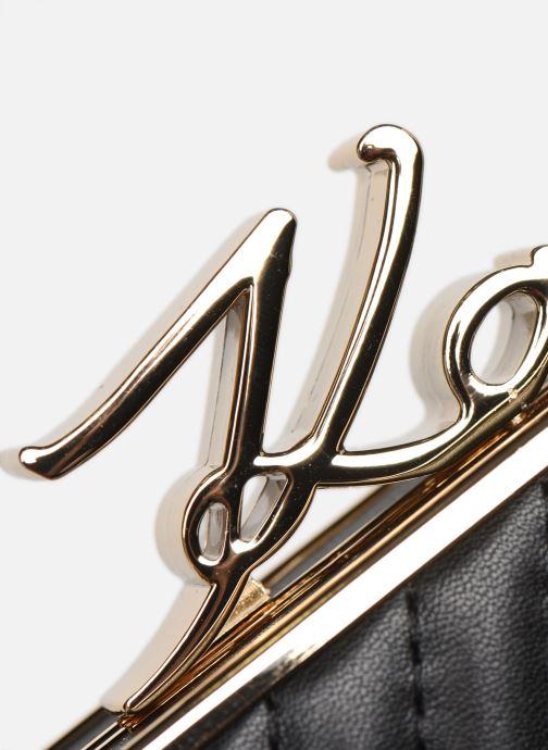 Handtaschen Karl Lagerfeld K/Signature Lock Minaudiere schwarz ansicht von links