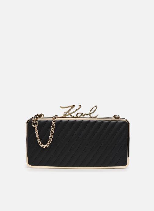 Handtaschen Karl Lagerfeld K/Signature Lock Minaudiere schwarz detaillierte ansicht/modell