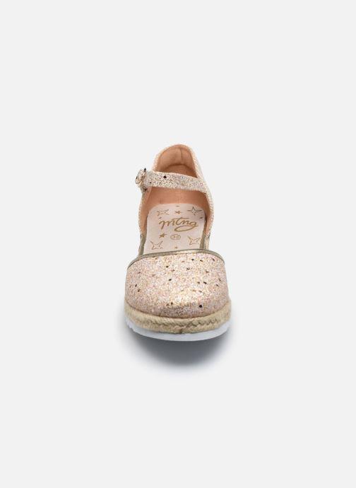 Espadrilles MTNG Padme Or et bronze vue portées chaussures