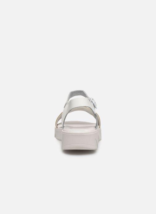 Sandales et nu-pieds MTNG Sole Blanc vue droite