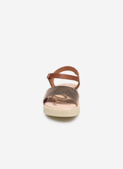 Sandalen MTNG Sole braun schuhe getragen