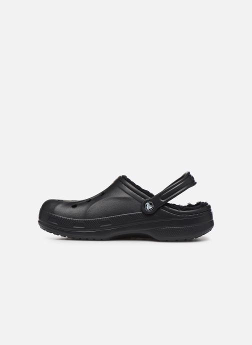Sandalias Crocs Baya Lined Clog Negro vista de frente