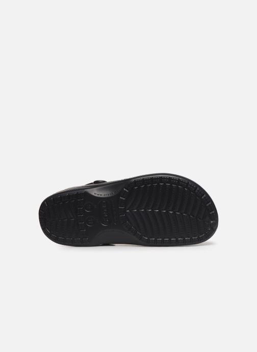 Sandalias Crocs Baya Lined Clog Negro vista de arriba
