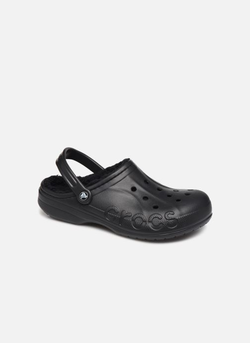 Sandalias Crocs Baya Lined Clog Negro vista de detalle / par