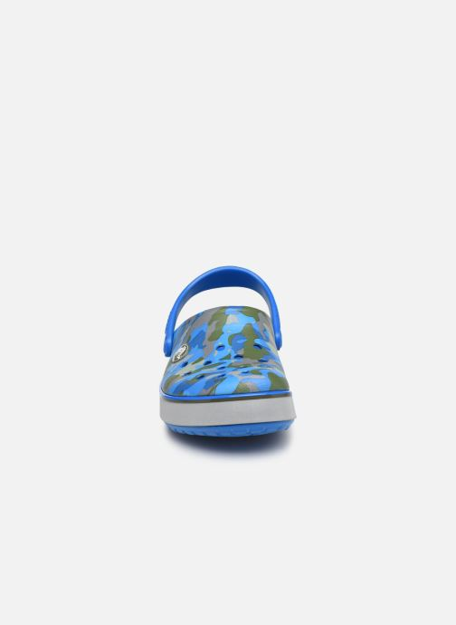 Sandales et nu-pieds Crocs Crocband Clog K Bright Bleu vue portées chaussures